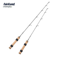 Wholesale Ice Fishing Rods - New 61cm 71cm L M lightweight ice fishing rod 100% solid carbon ice fish rod 2ft 2.4ft winter casting fishing pole