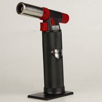 Wholesale Tools For Spraying - XXL Black torch butane lighter Outdoor barbecue spray lighters convenient Smoking tools for kitchen use NO Gas With Retail Package