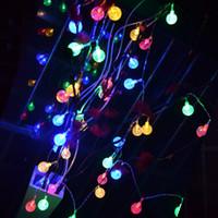 batteriebetriebene im freien weihnachtsbäume großhandel-Neuheit batteriebetriebene 40 LED Crystal Ball String Licht Gärten, Rasen, Terrasse, Weihnachtsbäume, Hochzeiten, Partys, Indoor und Outdoor