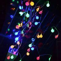 batteriebetriebene im freien weihnachtsbäume großhandel-Neuheit Batteriebetriebene 40 LED Kristallkugel Lichterketten Gärten, Rasen, Patio, Weihnachtsbäume, Hochzeiten, Partys, Innen- und Außenbereich