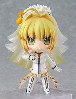 Wholesale Nendoroid Sebastian - 170613 QIUCHANY Nendoroid 10cm Night Of Destiny Fate   EXTRA CCC Saber Q Version Clay Doll Face Transplant Wedding Sebastian 387 #