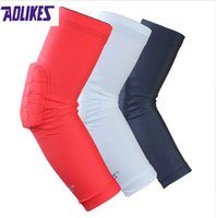 AOLIKES 1 Paar Hex Honeycomb Sponge Basketball Arm Sleeves Anti-Crash-Kompression Armband Sport Ellbogenschoner Coderas Schutz