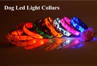 Wholesale Camo Small Dog Collars - D10 Free shipping New Pet Dog Collar Pet nylon Camo Light collar collar LED flash luminous collars