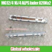ingrosso potenziometro dritto-All'ingrosso- 1pcs MG12 / 4 16/4 ALPS 75MM potenziometro a scorrimento dritto A20Kx2 / fader doppio linkage corsa 60mm