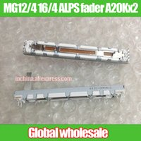 Wholesale fader potentiometer online - MG12 ALPS MM straight slide potentiometer A20Kx2 fader double linkage stroke mm