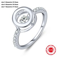 Wholesale Diamond Accent Rings - New Arrival Solid 925 Sterling Silver Diamond CZ Solitaire Accent Wedding Engagement Ring for Women Anniversary DL2400HA