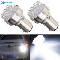 Wholesale Bay15d Led 12 - Free Shipping 2pcs White Car 1157 BAY15D Globes 12 LED Brake Turn Stop Tail Light Lamp Bulb