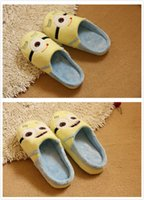 Wholesale Despicable Minions Plush Slippers - Wholesale-Despicable Me Minions Plush Stuffed Slippers Cartoon Women's Minion Warm Indoor Slippers Cosplay Shoes