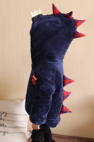 Wholesale Boys Dinosaur Hoodies - 2017 New Winter Baby Toddler Coral Fleece Velvet Coats Hoodies Girl Boy Dinosaur Monsters Design Padded Coats Children Kids Jackets Clothing