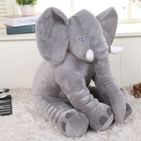 Wholesale Neck Protection Pillow - retail 2017 elephant pillow baby doll children sleep pillow birthday gift INS Lumbar Pillow Long Nose Elephant Doll Soft Plush 30cm