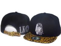 Wholesale Red Snakeskin Snapbacks - Last Kings Strapback caps black grey blue red with snakeskin LK Snapbacks hats fashion men's LastKings leopard hat