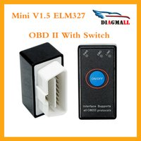 Wholesale Gm Window Switch - 2016 Super Mini V1.5 Bluetooth ELM327 With Switch OBD2 CAN-BUS Diagnostic Scanner tools Works On Android Symbian Windows