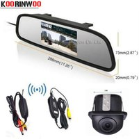 """Wholesale Auto Dvd Monitor - KOORINWOO 2.4G Wireless 4.3"""" Colorful Tft Auto Mirror Monitor 12v Screen For DVD Car Backup Rear View CAM Universal Reverse Parking Camera"""
