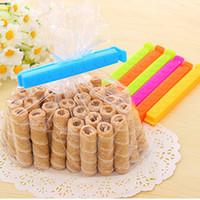 Wholesale Wholesale Flour Bags - Korean Seal Clamp Love Print Small Size Food Bag Flour Moisture Retention Seal Clip Color 11 * 1.4cm