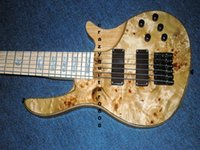 Wholesale China Custom Bass - Custom Natural 6 Strings Electric Bass Guitar Maple fingerboard Free shipping Guitar Factory Wholesale Guitars From China