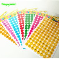 Wholesale piano strings - Happyxuan 7packs(21 sheets) 19.5*11.5cm Mini Paper Stickers Colorful Smile face School Teachers Rewards Sticker Kids Students