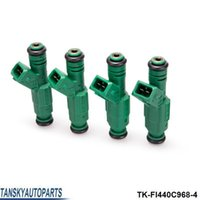 """Wholesale Volvo Fuel - TANSKY - 4PCS LOT High flow 0 280 155 968 fuel injector 440cc """"Green Giant """"For Volov fuel injector 0280155968 TK-FI440C968-4"""