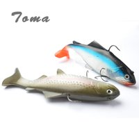 Wholesale Soft Baits Sea Fishing Lure - 130g 20cm Lifelike Fishing Lures Swimbait Deep Sea Soft Lead Big Fish Bass Bait Isca Artificial Lures Fishing Tackle