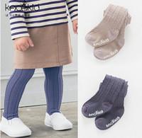 Wholesale Dance Pants Children - Baby pantyhose girls stripe dance knitting leggings autumn non-slip princess tights girls princess pants children cotton bottoms T0355