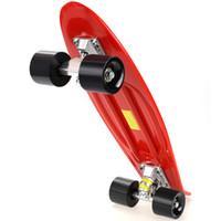 Wholesale Drift Skate Board - Multicolor Professional Unisex Complete Skateboard Deck Kids Double Dragon Skateboard Mini Children Plastic Skate Board