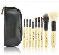 Wholesale Cheap Professional Make Up Brushes - B**BI BROWN Makeup Brushes Cosmetics Set 9 PCS Brand Make Up Brushes Sets Professional Blush Eyeshadow Brush Tool Kits Cheap Price
