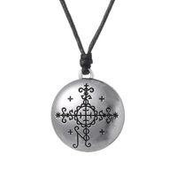 Wholesale Papa Jewelry - Myshape Wiccan Pendant Necklace Papa Simbi Voodoo Loa Veve Pendant Vodoun Lwa Divination Talisman Jewelry Adjustable Jewelry Fast Shipping