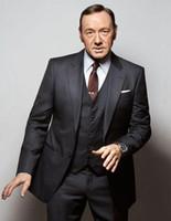 Wholesale Tie Front Suit - 2016 New Arrival High Quality Groom Tuxedos man Suits Gentle Front Button Groom Tuxedo For Man (Jacket+Pants+Tie+Vest)