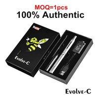 1pcs 100% Authentic Yocan Evolve-C Kits E Cigarrillos Cera Vaporizador Seco Herb Vape Pen Kits Con cera Atomizer Oil Tank 2 en 1 E Cigarette Kits
