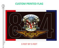 Wholesale Motorcycle Customs - Custom 3x5 feet Flag for Harley 84 Motorcycles Decorative Flag Banner w  2 Metal Grommest