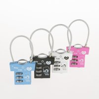 Wholesale The production of unique design zinc alloy lock wire rope lock other clothes small gift lock padlock