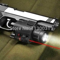 2014 Hot vente tactique Red Laser Sight et LED pour Rail Picatinny chasse Commutateur envoi gratuit Gun Rifle Wavelength: 650nm