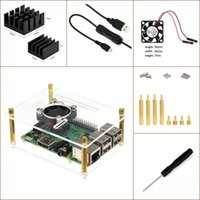 Wholesale Raspberry Pi Heat Sink - Raspberry Pi 3 & Pi 2 Model B & Pi B+ Experimental Desktop Starter Kit, (Transparent Case,ON OFF USB Cable, Heat sink,fan, etc) One layer
