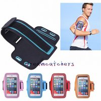 Wholesale arm band case sport bag resale online - Waterproof Sports Running Armband Case Workout Armband Holder Ponch Arm Bag Band Cover for iphone plus Samsung S7 S6 Edge Universal