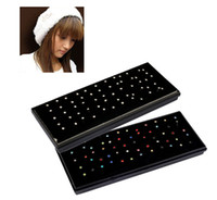 Wholesale 316l piercing - 60 pcs 1.8mm Rhinestone 316L Surgical Stainless Steel Nose Lip Bar Stud Ring Body Piercing