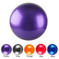 Wholesale Balance Balls - Yoga Ball Thick Explosion Proof Massage Ball Bouncing Ball Gymnastic Exercise Yoga Balance Training Balls 45 55 65 75CM 2502036