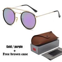 steampunk mäntel großhandel-Marke Steampunk Sonnenbrille für Männer Frauen Männlich Fahren Sonnenbrille reflektierende Beschichtung uv400 Brillen Oculos Gafas de Sol mit Box und Fällen