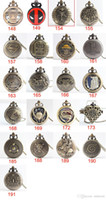 Wholesale Titan Watches Wholesale - Attack on Titan heart harry one piece Naruto deadpool pocket watch necklace pendants pocket Watches locket women gift 230148 191