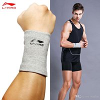 Wholesale Carbon Elbow - Wholesale- Genuine Li Ning Aqah232 Wrist Guard Bamboo Carbon Fiber Flexible And Breathable Elbow Support Brace one piece