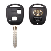Wholesale Toyota Corolla Key Cover - 2 BUTTON REMOTE KEY FOB CASE FOR TOYOTA CAMRY RAV4 PRADO COROLLA TARAGO AVENSIS AVALON EHCO LAND CRUISER CAR KEY SHELL COVER