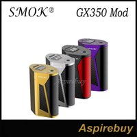 Wholesale Wholesale Small Metal Boxes - Smok GX350 Box Mod 350W TC Box Mod Top-Style Intuive OLED Display Poly-Angular Frame Up down Button 4 Battery Smaller Size 100% Original