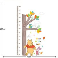 Wholesale Measure Wall Stickers - WINNIE THE POOH Height Chart Measure Wall Sticker Decal Kids Nursery Decor Mural