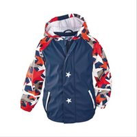 Wholesale Cashmere Jackets For Boys - 2016 Windproof Boys Jackets Stars Print Hooded Fashion Boys Coat Waterproof Autumn Kids Coat Outwear Windbreaker for Boys
