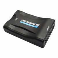 Wholesale Laptop Hdmi Dvd - MHL HDMI to SCART   SCART To HDMI MHL Audio Video Converter Adapter AV For HDTV DVD Wholesale
