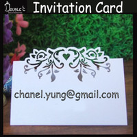 Wholesale Guest Seating - Wholesale- 50pcs Name Place Cards Wedding Invitation Guest Names Table Cards,Laser Cut Wedding Table Decoration Paper Heart Seat Card