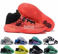 Wholesale Now Clear - Now 2016 Kyrie Irving Men Basketball Shoes Kyrie 2 Bright Crimson Tie Dye BHM All Star Basketball Sneakers High Quality Shoes Size 41-46