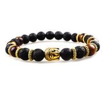 Wholesale tigers eye stone sale - SN0632 Hot Sale High Quality Bracelet Buddhist Buddha Bracelet For Unisex Black Lava stone Bracelets Man Tiger eye bracelet