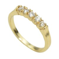 Wholesale Cheapest 14k - Cheap Wholesale Simple Rhinestone Latest Gold Ring Designs