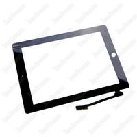 9,7 tablette weiß großhandel-Digitizer Tablet für iPad 2 3 4 Schwarz und Weiß 9,7 Zoll Touchscreen Glas Panel Digitizer Freies DHL