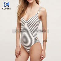 Wholesale Stripes Swimsuit Ladies - Wholesale- Cupshe All about Stripe One-piece Swimsuit Women Summer Sexy Swimsuit Ladies Beach Bathing Suit swimwear