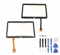 adhésif pour numériseur achat en gros de-Juste pour la qualité Panneau en verre à écran tactile avec adhésif pour Samsung Galaxy Tab 4 10,1